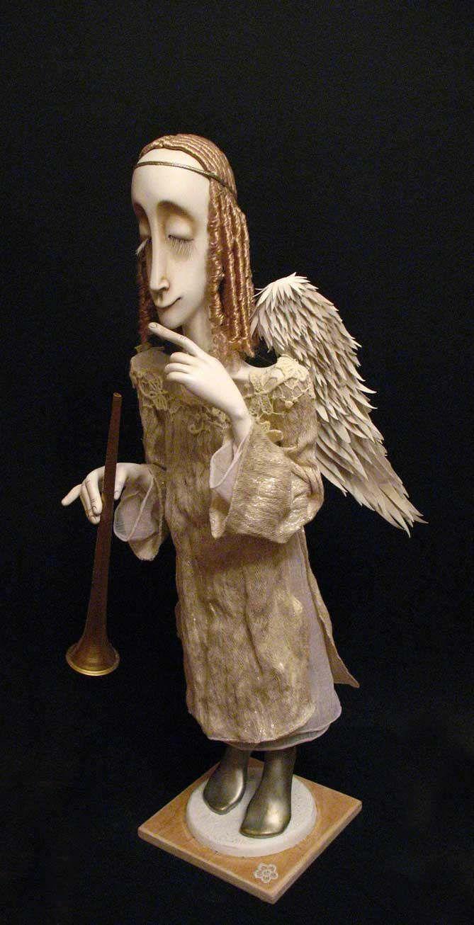Angel with a trumpet by ZAKOLYKA on Etsy