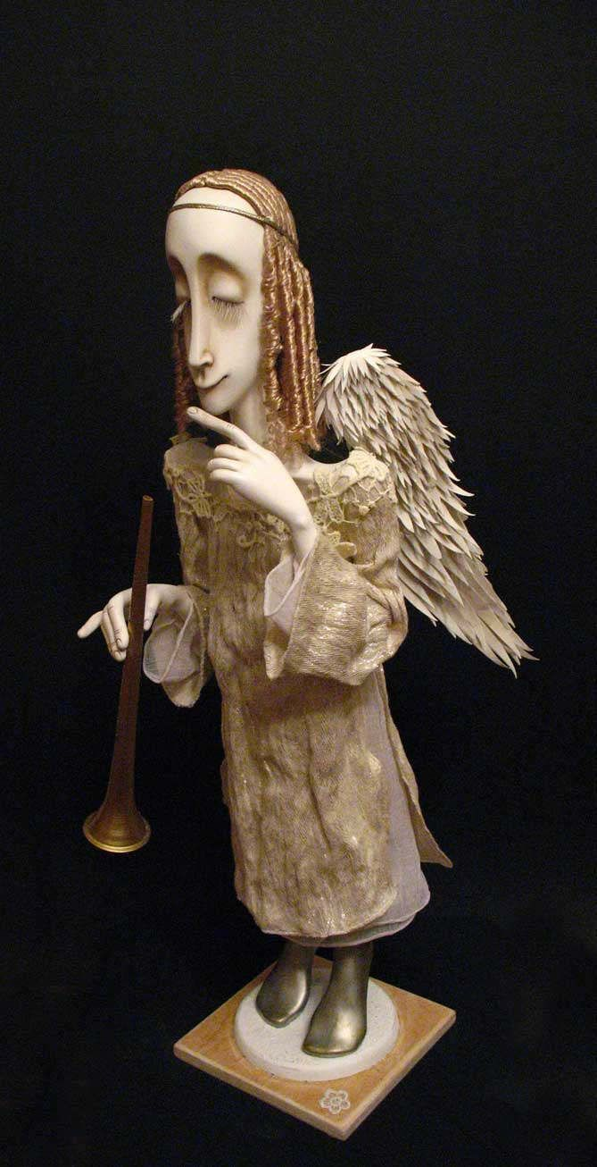 Angel with a trumpet by ZAKOLYKA on Etsy