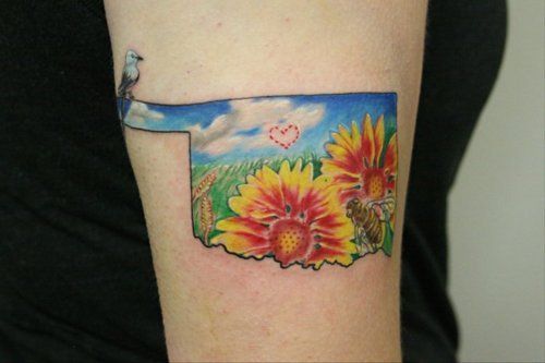 oklahoma tattoo... oh wow this is really similar to something I have been wanting