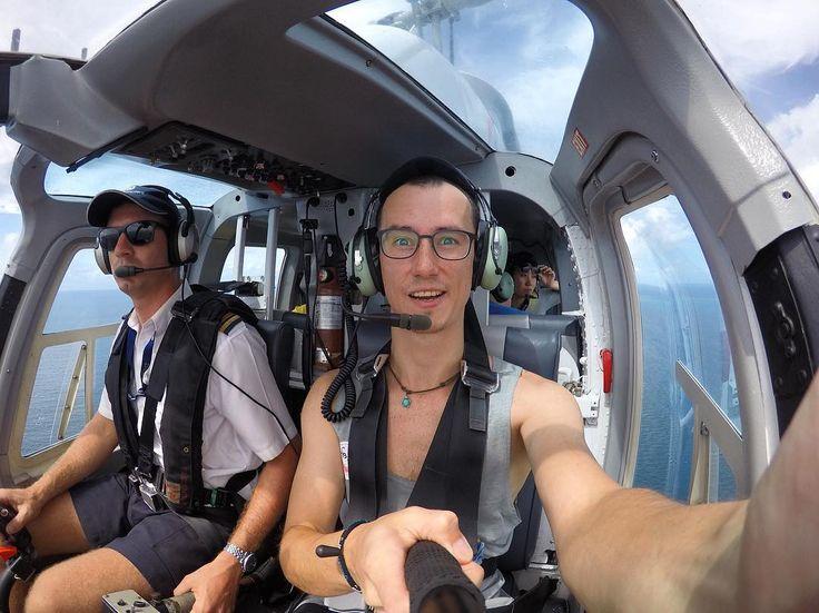 Like a bird) ## почти удалось порулить на самом деле - нет)) #helicopter #likeabird #greatbarrierreef by in_disee http://ift.tt/1UokkV2