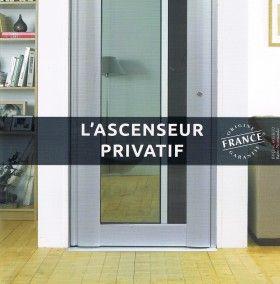 """Ascenseur """"Essentiel-Lift"""" - De fabrication française, ce mini-ascenseur privatif """"Essentiel-Lift"""" a été étudié afin de pouvoir être installé au domicile ou sur le lieu de travail. L'équipement hydraulique apporte un degré de confort élevé et son respect de la norme européenne garantit par ailleurs une sécurité maximale."""