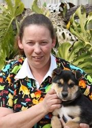 Rebecca Lovett - her passion is fostering working dogs so they can be re-homed via Australian Working Dog Rescue http://www.workingdogrescue.com.au/