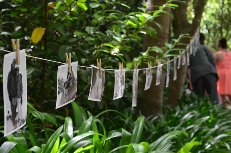 Garden wedding, photo board