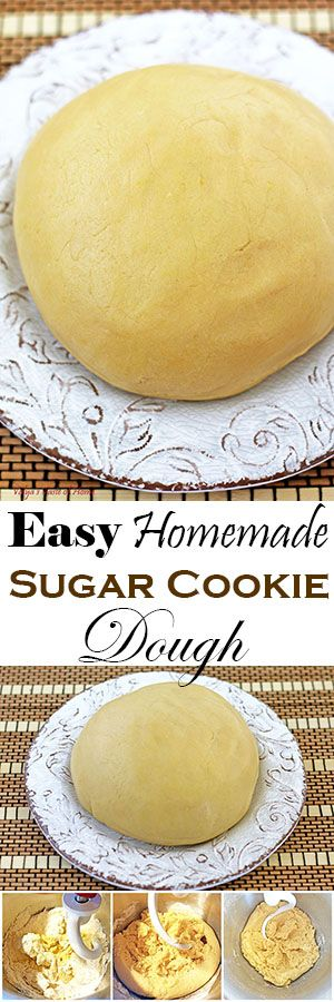 I know how it can be convenient to grab ready-made sugar cookie dough from a grocery store when planning a quick dessert.  But sometimes our thought process regarding it ends there. However, imagine how much healthier and cleaner the dough would be if you home make it yourself. It only takes less than 10 min to make. #homemadesugarcookiedough #sugarcookiedough #quickandeasy