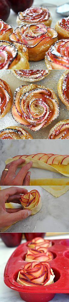 Красивый десерт: яблочные розы - Простые рецепты Овкусе.ру