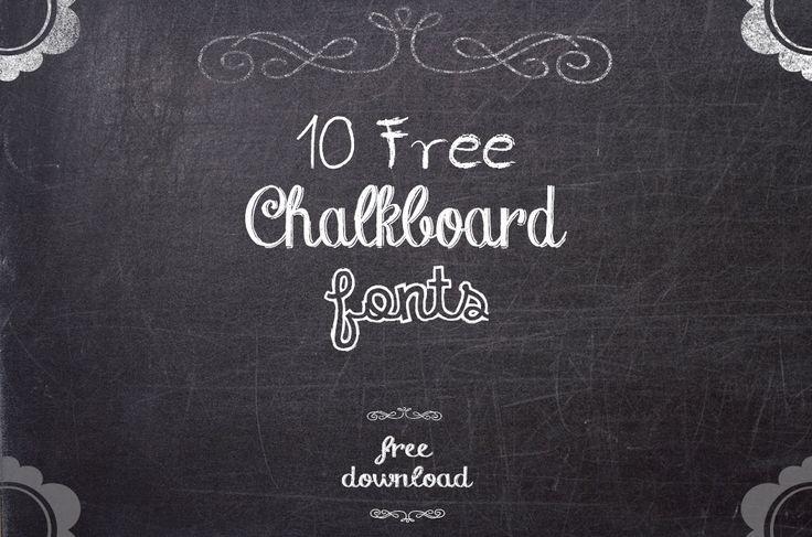 Chalkboard Fonts, decidi fazer download de uma delas, para aplicar no meu curriculo criativo (: