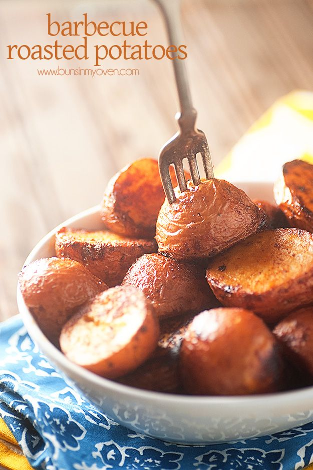 Oven Roasted Barbecue Potatoes #vegan