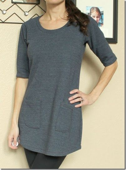 Jalie tunic pattern. This could be either a top or made longer for a super-comfy winter dress.