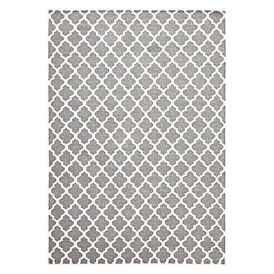 Scandi Geo Lattice Wool Rug by Rug Culture
