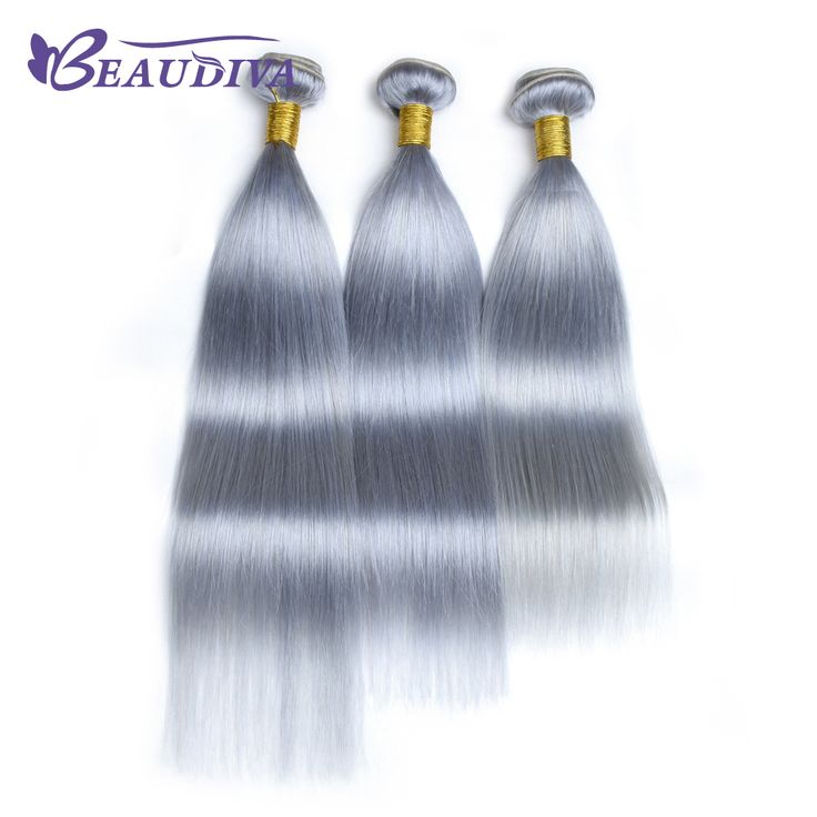 Cheap hair extension, Buy Quality extensions weave directly from China hair straight Suppliers: BEAUDIVA Pre-Colored T1B/ Gray Color Remy Hair Straight 3 Bundles Lot Ombre Human Hair Extensions Weave Bundles