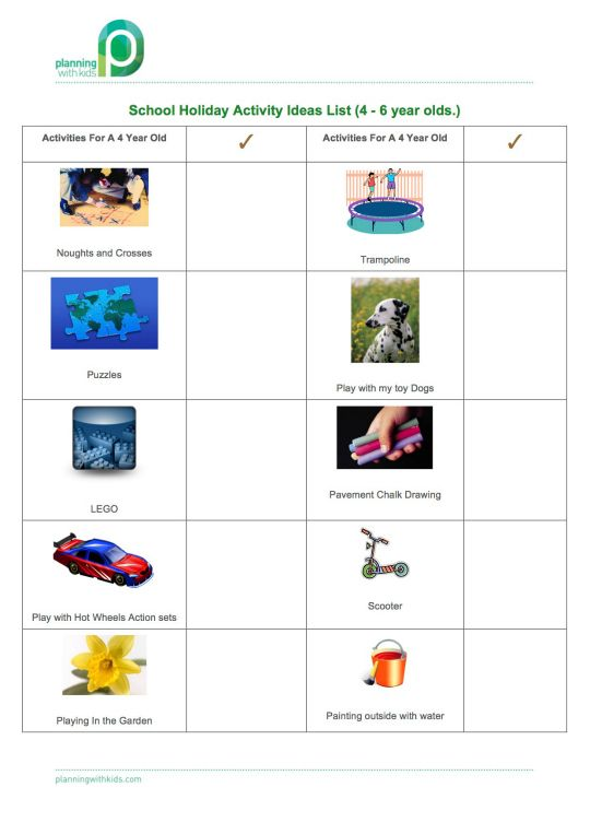 540 School Holiday Activity Ideas List 4 year old 2014.jpg