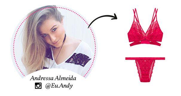 escolha de presente lingerie da Andressa Almeida para o dia dos namorados