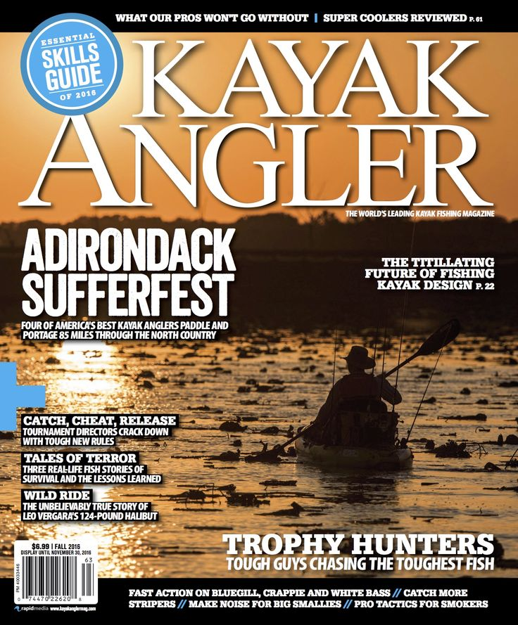 Kayak Angler magazine is the world's leading kayak fishing magazine and the number one source for fishing kayak reviews, rigging and tactics for freshwater and saltwater kayak anglers.