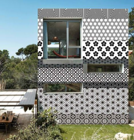 Exterior wallpaper-- why should interior walls have all the fun?Dreams Home, Pattern, Wall Deco, Texture, Outdoor Wallpapers, Graphics Design, House, Architecture, Design Home