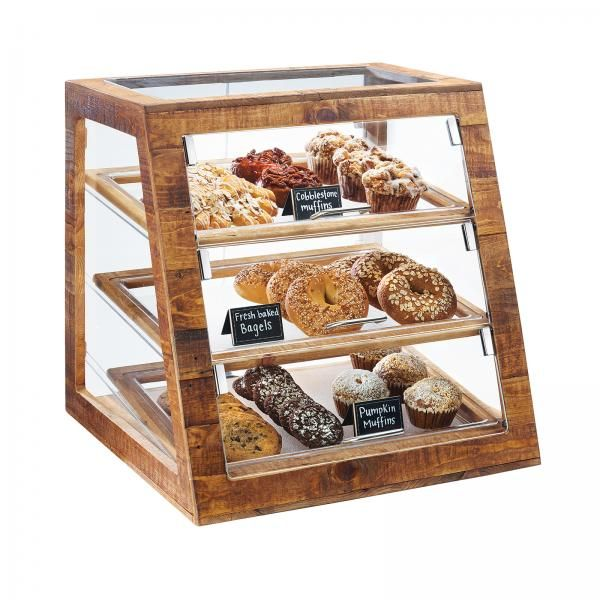 "Cal-Mil 3432-99 Madera Bakery Display Case, 3-tier, full-service, 21""W x 21-1/2""D x 21-1/"