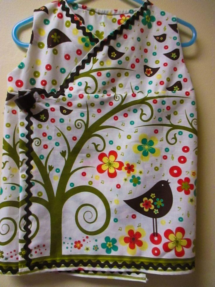 Size 2/3T Girls wraparound Kimono Dress, Vintage Style, 1960's style, Handmade Dress by BluberryHillBoutique on Etsy