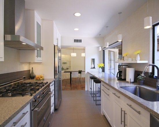 Furniture Contemporary Kitchen Design With Gray Granite Breakfast Bars For Kitchens Also Modern White