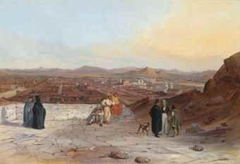 Johann Moritz Rugendas (1802-1858) Santiago from the hill of Santa Lucia, looking west
