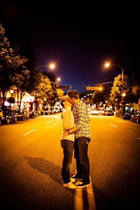Guys kissing