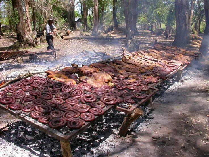 This is a real bbq!,esto es un verdadero asado,Uruguay,South America.