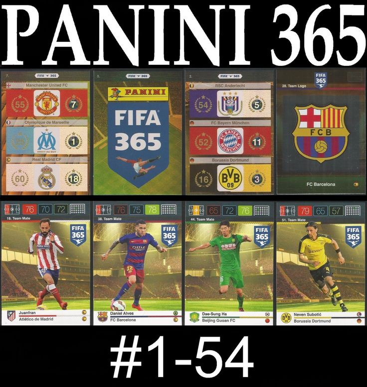 ##1-54 #panini 2015 fifa 365 team mate / logo adrenalyn #card/s,  View more on the LINK: 	http://www.zeppy.io/product/gb/2/281810593768/