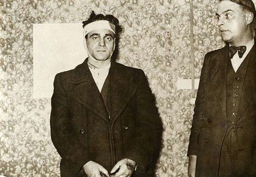 June 17, 1939: The last public guillotining in France takes place when Eugen Weidmann, a convicted murderer seen here after his arrest, is guillotined in Versailles outside the Saint-Pierre prison. Executions by guillotine in France continued in private until Sept. 10, 1977, when Hamida Djandoubi was the last person to be executed.