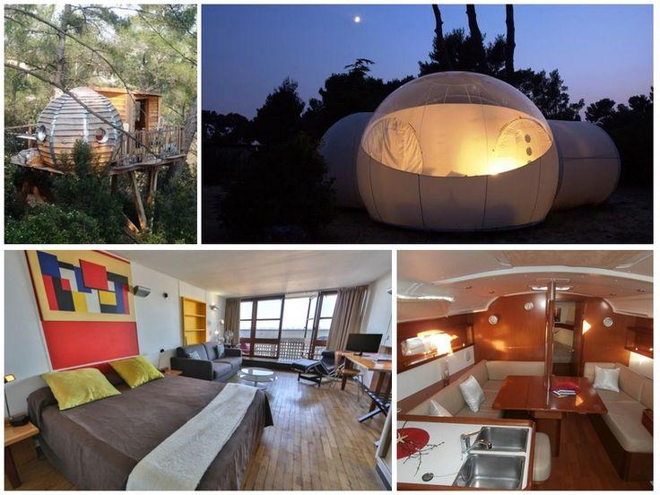Made in Marseille a sélectionné les meilleurs hôtels de Marseille et des alentours où passer une nuit atypique : bulle, roulotte, bateau...