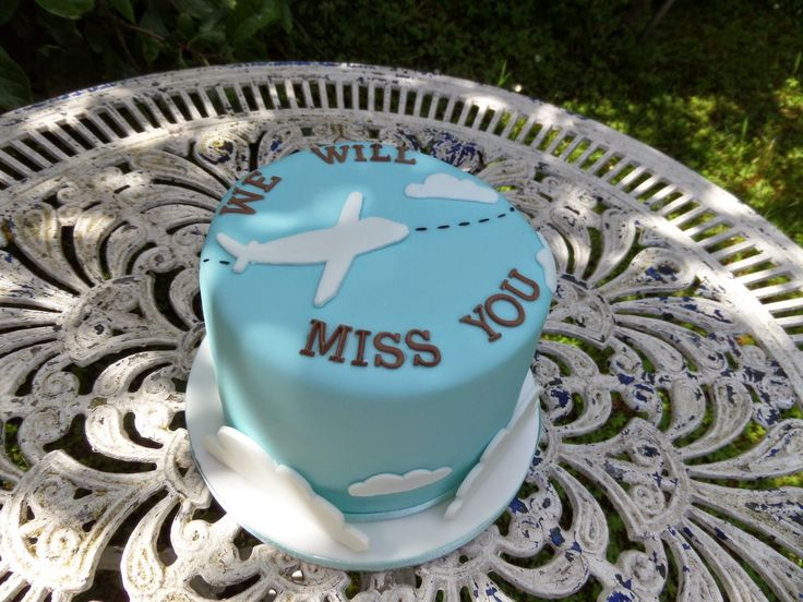 The Darling Cake Company 'we will miss you' cake. http://thedarlingcakecompany.blogspot.co.uk