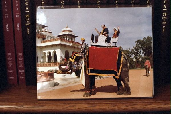 "Justic Scalia & Justic Ginsburg on an elephant....Perfect example of ""why can't we just all get along??"""