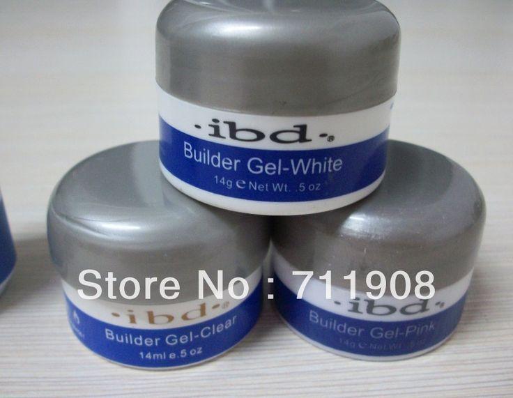 free shipping14 g / 0.5 oz Acrylic Nail Art UV Gel nail saloon ibd Builder Gel Nail Clear gel nail art 3pcs three color