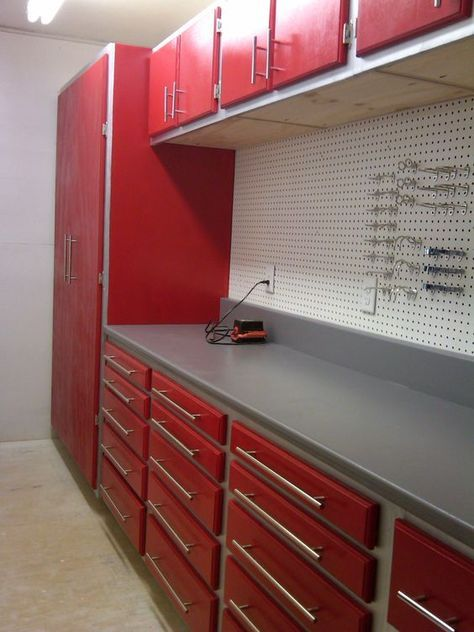 Work Bench Layout Full End Cabinet Base Units With