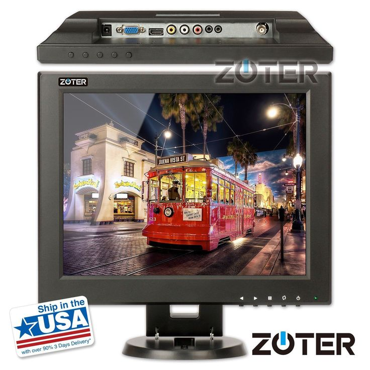 ZOTER 12 Inch HDMI BNC VGA LCD CCTV Monitor Screen for DVR PC Security Camera