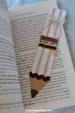 kartondan kitap ayracı yapımı