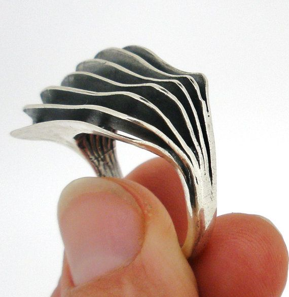 NEW Handcrafted 925 Sterling Silver Ring Unique Design by Porans, $47.00