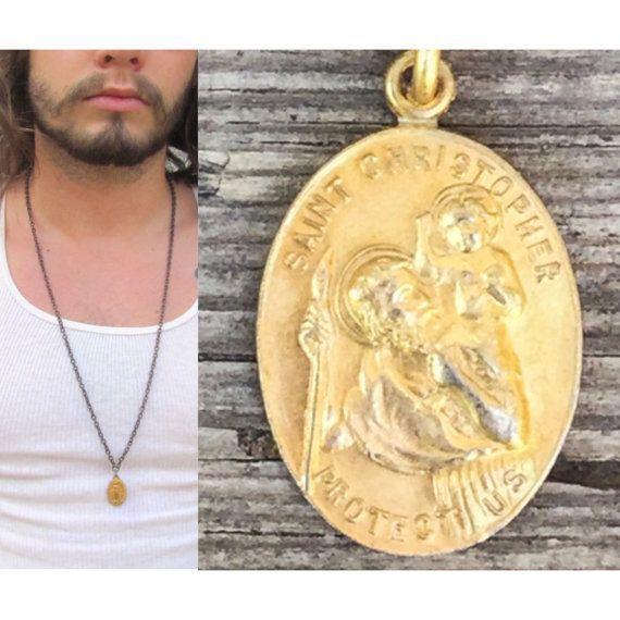 Saint Medal Necklace BULK DISCOUNT Vintage Catholic medal