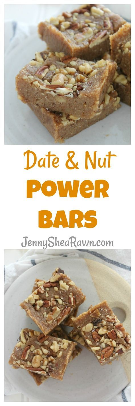 Date and Nut Power Bars. Dates, walnuts, cashews and pecans blended up, sprinkled with sea salt, then cut into power bars. The perfect savory & slightly sweet breakfast for moms on-the-go … or anyone on-the-go, who doesn't have time for a leisurely (…or even sit-down) weekday breakfast. Breakfast | Breakfast Bars | Snack Bars | Healthy Breakfast bars | Fruit and Nut Bars | Back to School Breakfasts | On the Go Breakfast Recipes