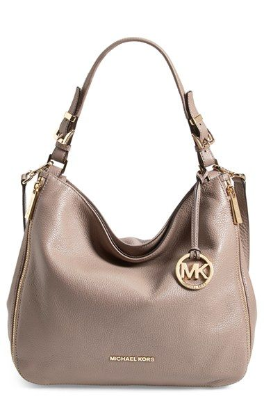 Free shipping and returns on MICHAEL Michael Kors 'Essex' Hobo at Nordstrom.com. A dangling logo medallion lends signature gleam to a buttery-soft, pebbled-leather shoulder bag, while vertical exposed-zip pockets provide a hint of contemporary edge.