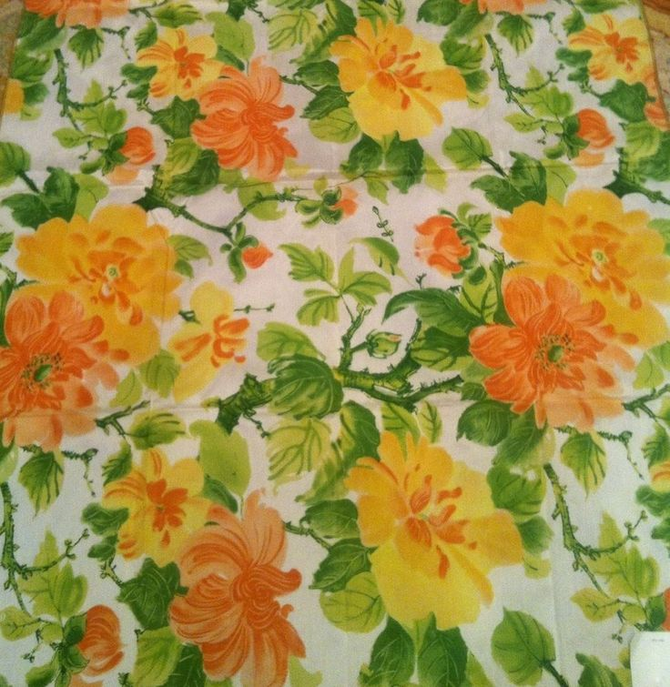 Vintage STROHEIM & ROMANN ITALIAN SILK FABRIC KYOTO Melon Large Scale Floral