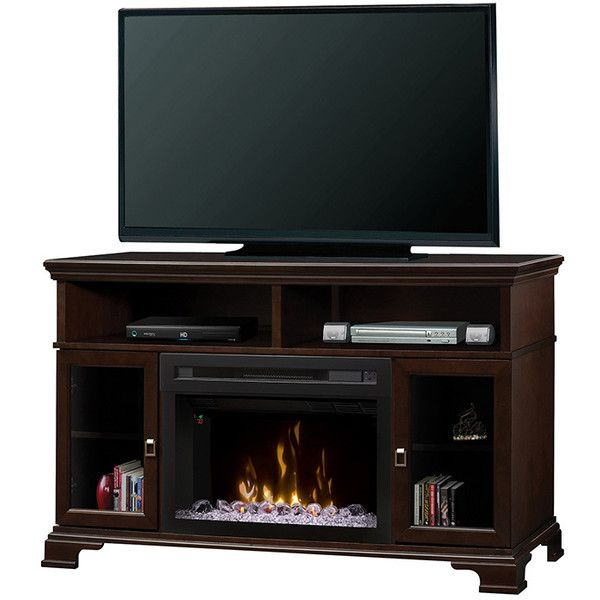Contemporary Fireplace TV Console Brookings by Dimplex ($985) ❤ liked on Polyvore featuring fireplace, contemporary media console, contemporary media cabinet, fireplace media console, modern classic furniture and contemporary home furniture