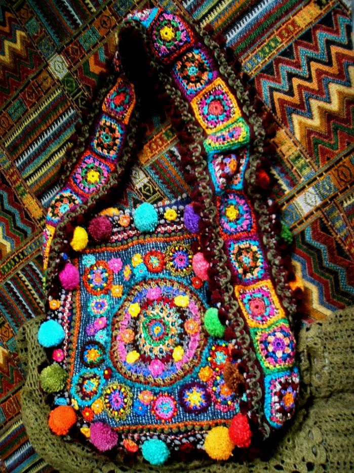 Hippie Chic Crochet Bag