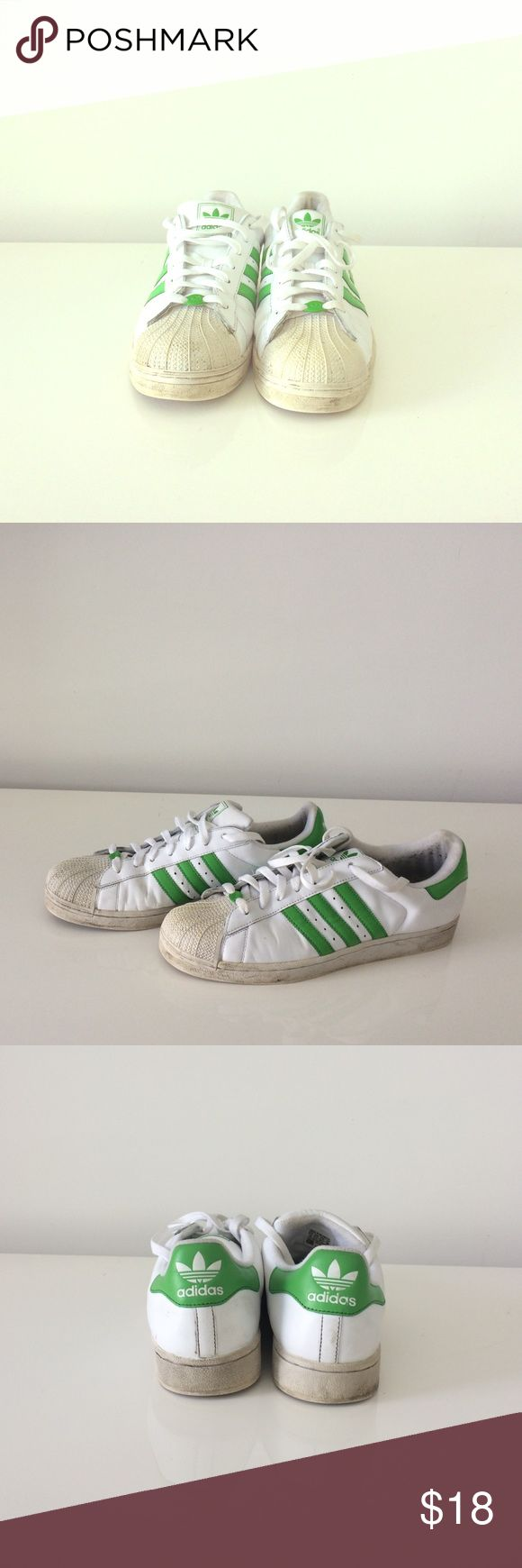 Adidas men's size 12 Adidas Superstar Men's shoes (Pin #723001) these shoes have been worn but still have a lot of life-with a little cleaning I think these would be good as almost new ...... priced to sell Adidas Shoes Athletic Shoes