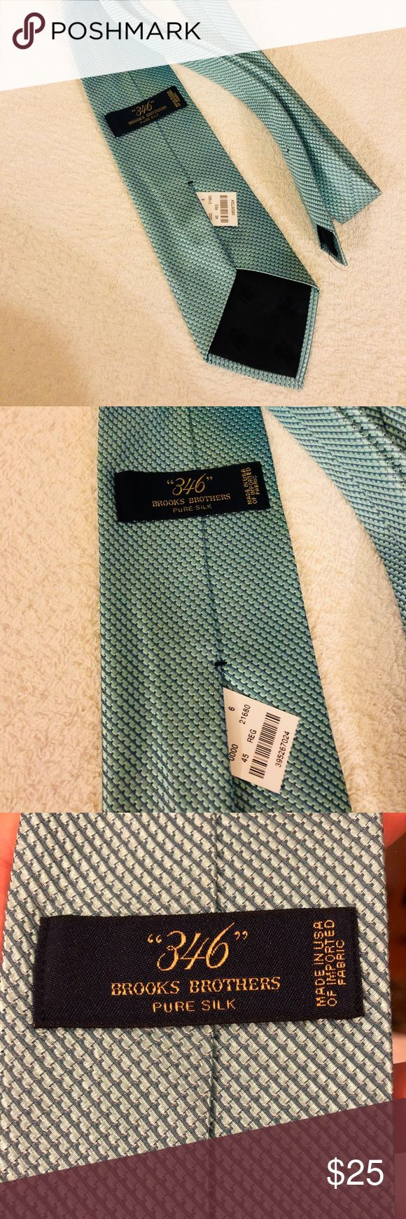 Brooks Brothers NWT Seafoam Green Check Tie Brooks Brothers Seafoam Green Check Woven Silk Necktie! NEW WITH TAGS! Please make reasonable offers and bundle! Ask questions! Brooks Brothers Accessories Ties