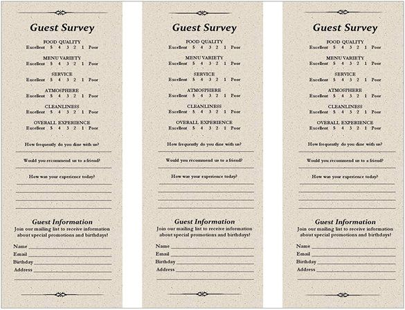24 best Comment Cards images on Pinterest Cleaning, Liquor store - restaurant survey template