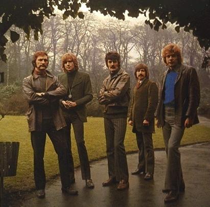 Moody Blues, 1969. L to R; Mike Pinder, Justin Hayward, Ray Thomas, Graeme Edge, and John Lodge