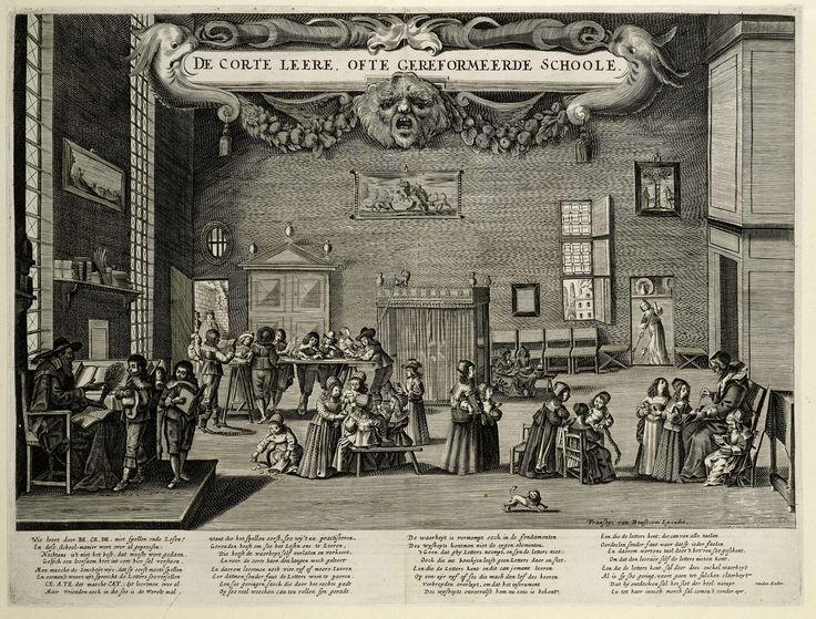 Gereformeerde school, ca. 1650, anoniem, Abraham Bosse, Francoys van Beusekom, 1642 - 1665