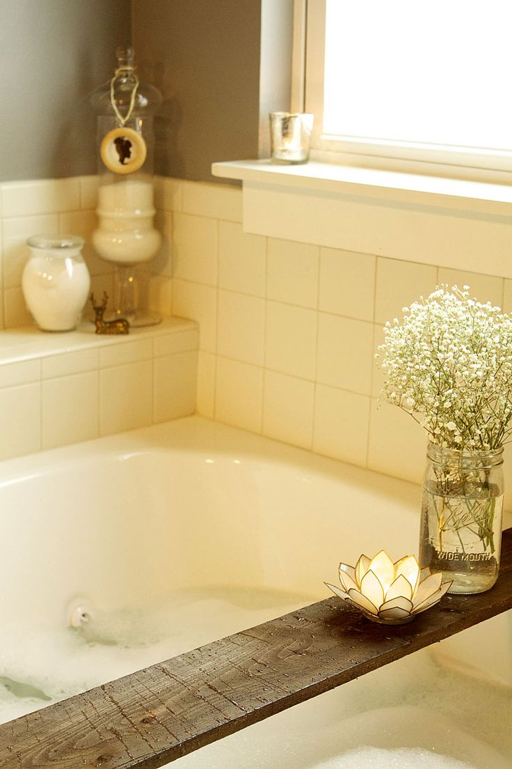 In the bathroom while taking a shower or a well deserved bubble bath - I Could Have A Nice Candle Light Bubble Bath Here