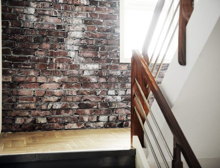 Exposed brick wallpaper. NEED. MUST HAVE. found the perfect one on amazon for $60