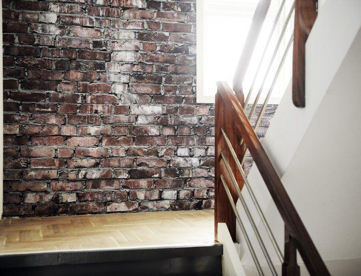 1000 images about faux brick ideas on pinterest faux for Kitchen cabinets lowes with papier peint imitation pierre