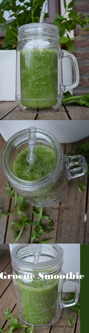 Groene Smoothie van Rucola en Blad Spinazie #smoothie #Jar #gezond