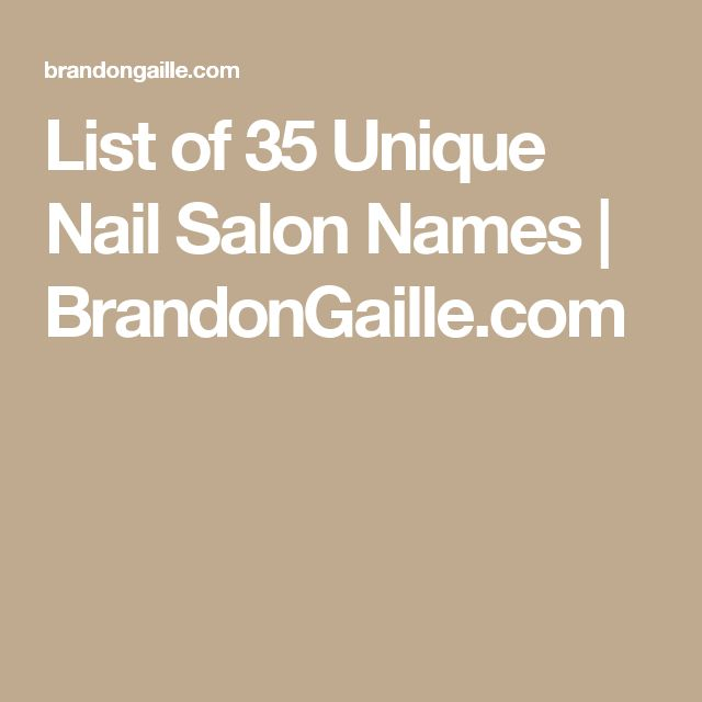 17 best ideas about nail salon names on pinterest for A list nail salon game